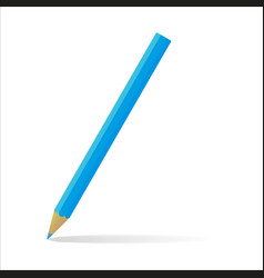 Blue pencil with a falling shade vector
