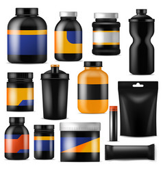bodybuilding nutrition branding fitness vector image