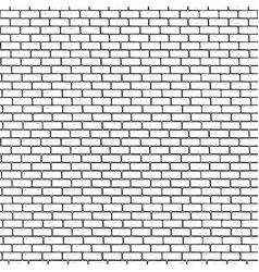 brick wall black and white seamless pattern vector image
