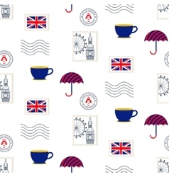 British symbols seamless pattern vector image