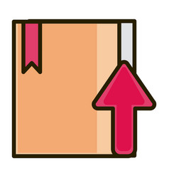 cardboard box up arrow business financial vector image
