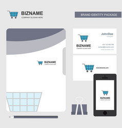 Cart business logo file cover visiting card and vector