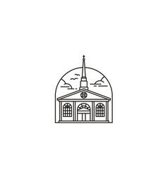 christian church catholic building chapel logo vector image