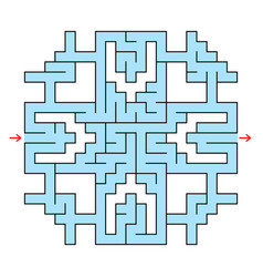 Colorful square fantastic labyrinth with an input vector