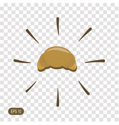 croissant icon isolated on transparent background vector image
