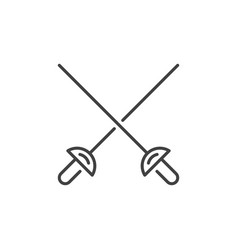 Crossed rapiers concept icon in thin line vector