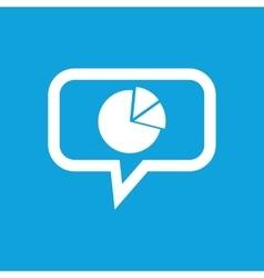 Diagram message icon vector