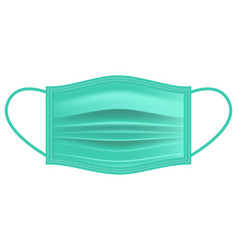 Disposable surgical mask face mask flat icon vector