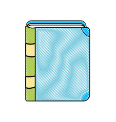 Doodle education book object to knowledge study vector