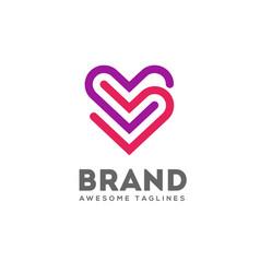 Double heart logo vector