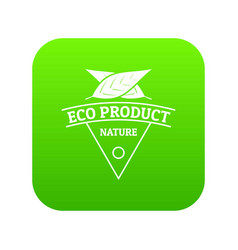 eco product icon green vector image