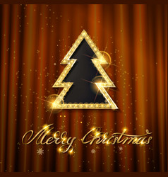 elegant merry christmas poster template vector image