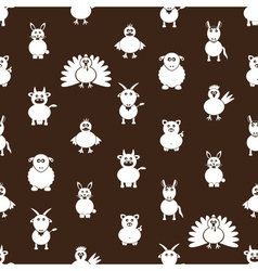 Farm animals simple icons seamless pattern eps10 vector