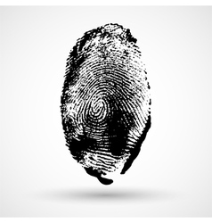 Fingerprint isolated on white vector
