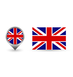 flag england location point with vector image