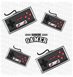 gamer gamepads technology vector image