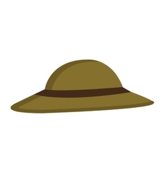 green hat with brown loop graphic vector image