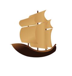 happy columbus day ship design vector image