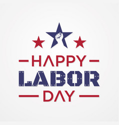 Happy labor day letter for element design vector
