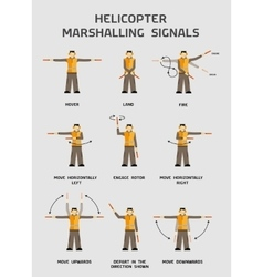 Helicopter marshalling signals vector image