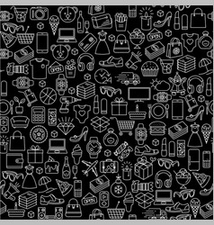 hopping black friday sale seamless pattern vector image