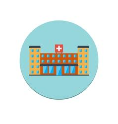 Hospital building icon vector