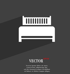 Hotel bed icon symbol Flat modern web design with vector image