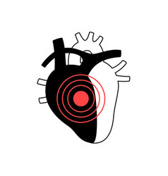 isolated of heart vector image