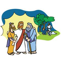 Jesus transfiguration vector