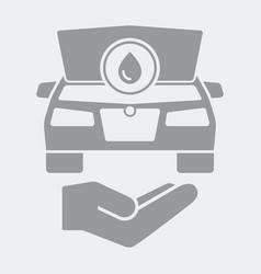 Liquid car check icon vector