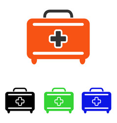 Medical baggage flat icon vector