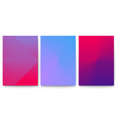 minimalistic covers set with gradient backdrop vector image