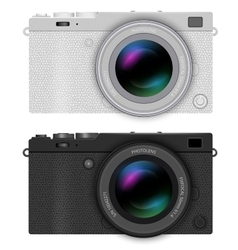 Mirrorless compact camera vector image