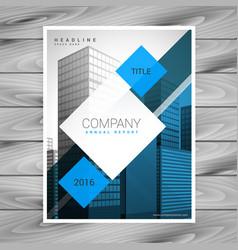 Modern blue business flyer brochure template vector