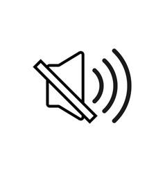 mute speaker icon graphic design template vector image