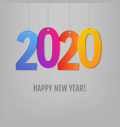 new year card grey background vector image