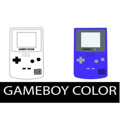nintendo gameboy color vector image
