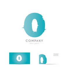 o blue letter alphabet logo icon design vector image