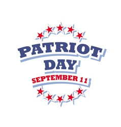 Patriot day usa logo isolated on white background vector