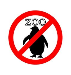 Penguin in zoo prohibited vector image