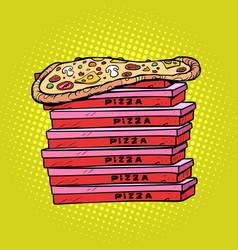 pizza box a lot vector image