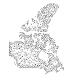 polygonal network mesh map of canada vector image