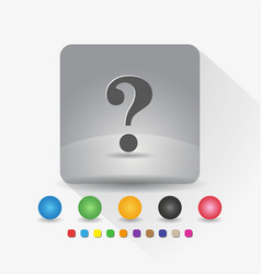 question mark icon sign symbol app in gray square vector image