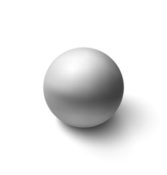 Realistic grey sphere vector
