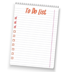 Realistic to do list spiral notebook white notepad vector image