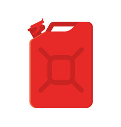 red metal jerrycan isolated on white background vector image