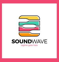 Round square radio signal logo vector