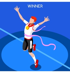 Running Winning Man 2016 Summer Games Isometric 3D vector image