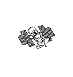 satellite hand drawn outline doodle icon vector image