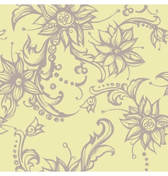 Seamless with decorative flower vector image